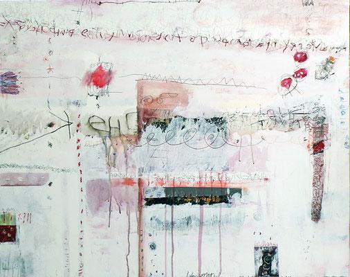 Alphabet mit Rot - Acryl-Mischtechnik auf Leinwand - 100 x 80cm - 2016 -verkauft-
