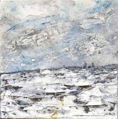 Wintertag - Acryl-Mischtechnik auf Leinwand - 30 x 30cm