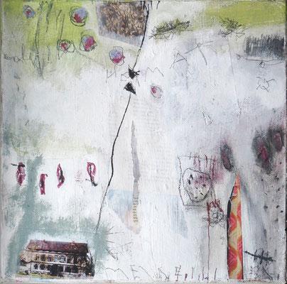 Meine Heimat - Acryl auf Leinwand - 30 x 30 cm - 2015