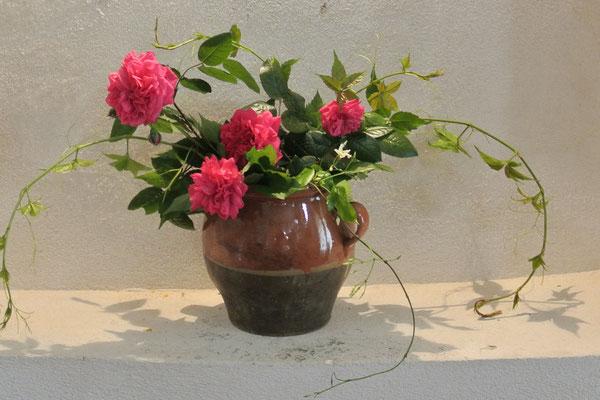 Begrüßungs-Blumenstrauß im maison de Matthieu