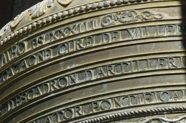 Inschrift auf der Glocke