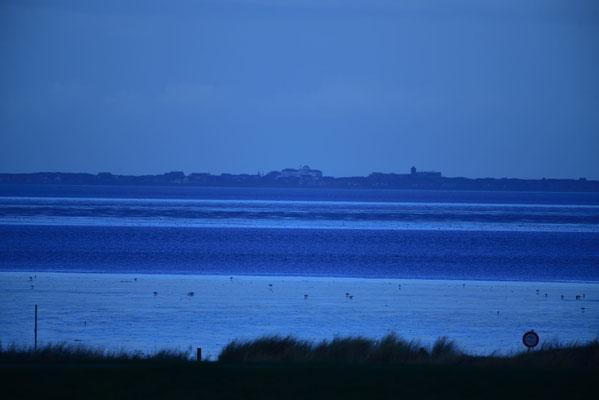 Blick auf die Insel Juist