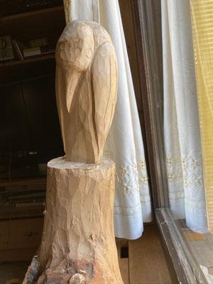 der Vogel noch im Rohzustand Höhe der Figur 31cm