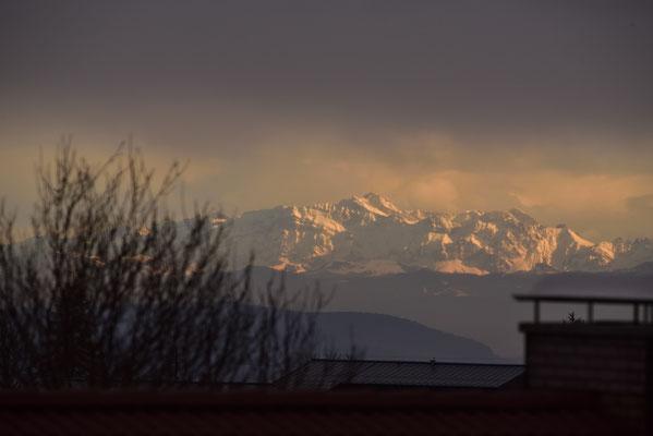 der Säntis in Schnee und Licht (bei St.Gallen CH)