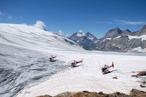 Gletscherbesucher