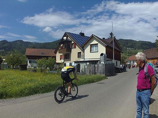 Christian Harzenmoser auf der Radstrecke