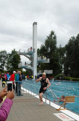 Marc Ruhe beim Schwimm Exit