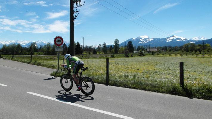 Robert Vuketic auf der Radstrecke