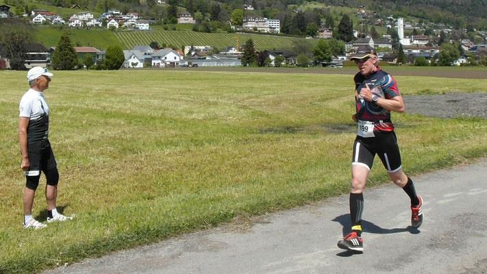 Philip Schädler auf der Laufstrecke
