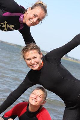 """Die """"starken"""" Frauen der Freizeit... Betti, Greta und ich."""