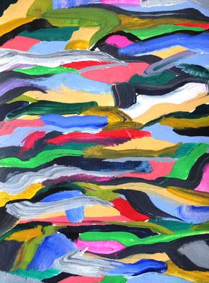 Abstraktes Bild o.T.    Acryl auf Papier in 24x31
