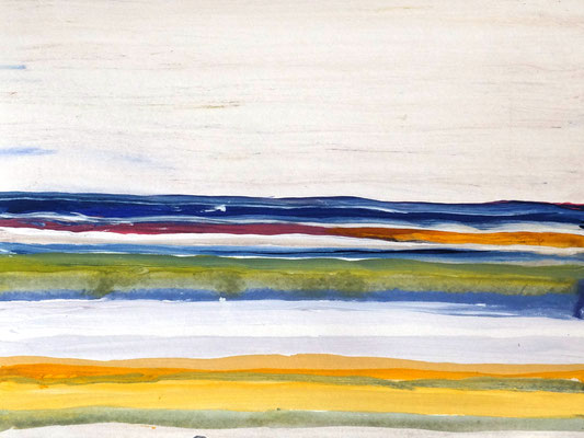 Horizont am Meer, Acryl auf Papier in 31x24, 04/2017