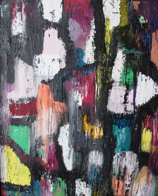 Abstract World 09 2020 ohne Rahmen (Acryl und Tusche auf LW in...)