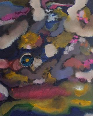 """""""Blue Flower"""", Acryl und Tusche in 100x80"""