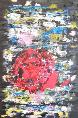 """""""Abstract World"""" o.T. 06 2018,  Acryl und Tusche auf LW in 100x150  <<<verkauft"""