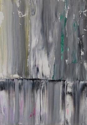 o.T.  2017, Acryl auf HDF Platte in 50x70