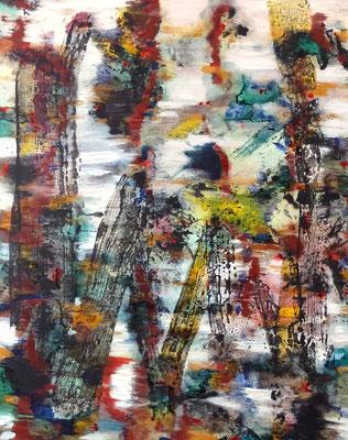 20062020 Abstract Worlds o.T. Acryl und Prgmente auf LW in 100x80