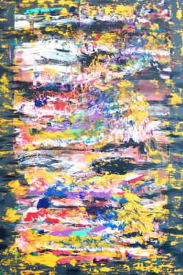 """""""Abstract World"""" o.T. 06 2018,  Acryl und Tusche auf LW in 100x150"""