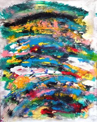 """""""Rosenmontag""""   Acryl und Tusche auf LW in 100x80 (sold)"""