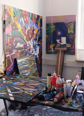 Im Atelier in der Spinnerei Leipzig H17/107