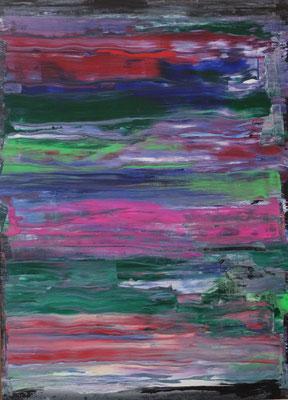 0.T. 2017 , Acryl auf HDF Platte in 50x70