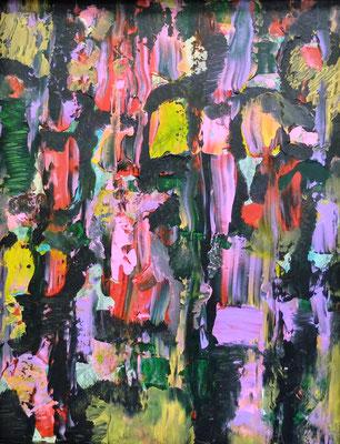 Abstract World 09 2020 ohne Rahmen (Acryl und Tusche auf Karton in...)
