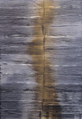 """""""Goldener Schnitt"""" Acryl und Goldspray in 100x80 auf Ulmer Malgrund"""