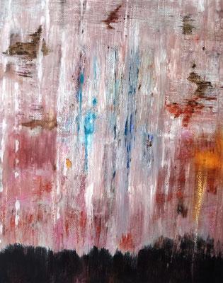 26062020 Abstract Worlds 0.T. Acryl und Pigmente auf LW in 100x80 (Uebermalung)