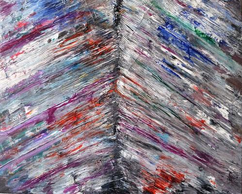 05072020 Abstract Worlds o.T. Acryl und Pigmente auf LW in 80x100 (Uebermalung)