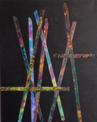 """""""Paolo"""" Hommage an Paolo Giacometti, ein seelenverwandter Bildhauer  Acryl und Tusche auf LW in 100x80"""