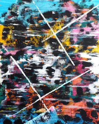 o.T.   Acryl und Tusche auf Leinwand in 100x80