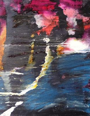 Abstract World o.T. Acryl und Tusche auf LW in 50x40