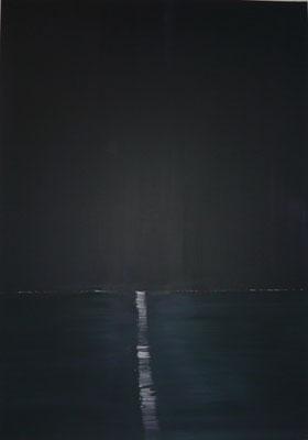 Der kleine Hoffnungsschimmer, Acryl auf Leinwand in 80x100, 2011 / Glimmer of hope              >>>sold (s.Referenz)