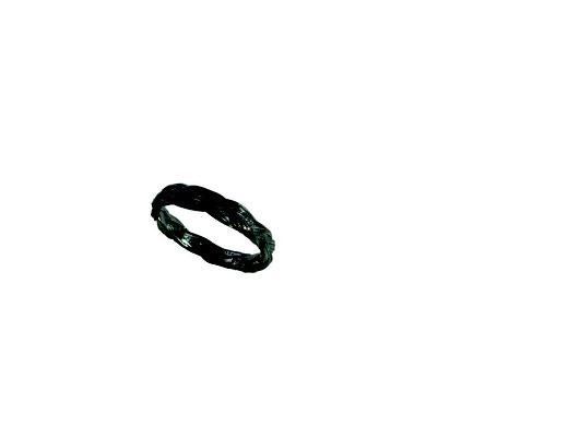 Ring mit Pferdehaarstruktur aus 925 Sterlingsilber