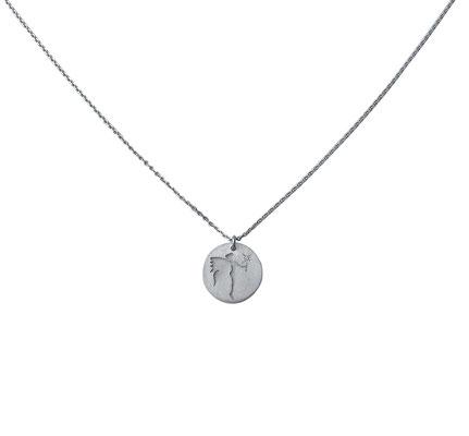 Glücksfee - Anhänger mit kleinem Diamant, aus 925 Sterlingsilber