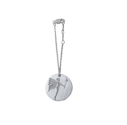 Glücksfee - Glücksbringer für Reiter und Pferd mit kleinem Diamant, aus 925 Sterlingsilber