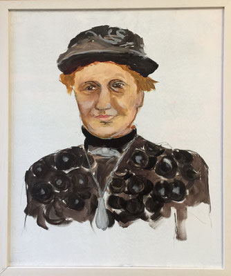 Bäuerin, Acryl auf Leinen, 50 x 60 cm, Fr. 150.--