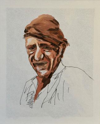Knecht, Acryl auf Leinen, 50 x 60 cm, Fr. 150.--