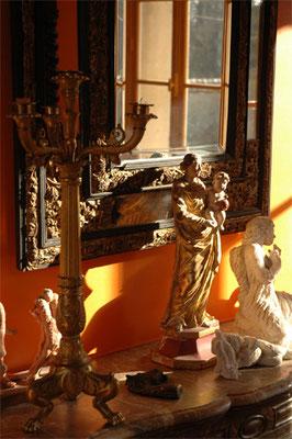 les Chambres de l'Abbaye. Détail salle à manger