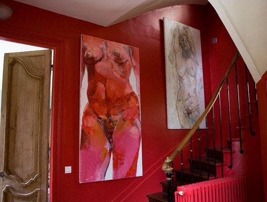 L'escalier . Peintures Jean François Comte