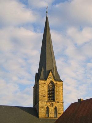 Der Kirchturm von St. Christophorus in Werne