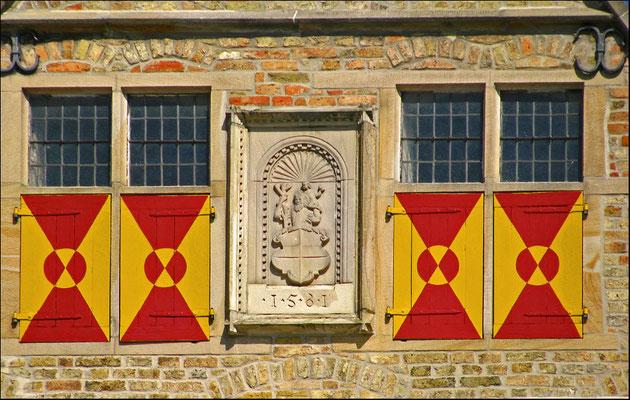 Das Wappen von Werne am Rathaus