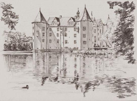 """""""Die Glücksburg"""", Bleistift auf Papier, Dina 4, 2011"""