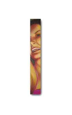"""A Good Time Girl:  3.5 x 24 x 1""""  acrylic on wood"""