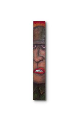 """G.I. Joe:  3.5 X 24 x 1""""  Acrylic on wood"""