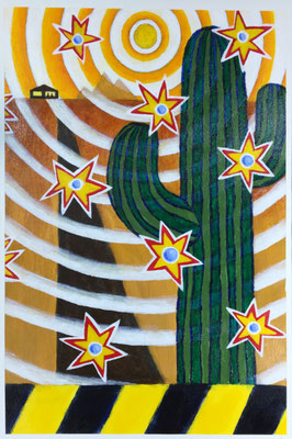 "COVID #6  (12x18"" / acrylic on paper)"