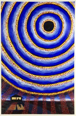 "COVID #1  (12x18"" / acrylic on paper)"