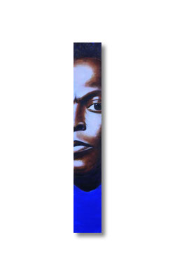 "Miles:   3.5 x 24 x 1""  acrylic on wood"