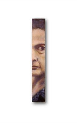 "Contender- Hillary:   3.5 x 24 x 1""  acrylic on wood"
