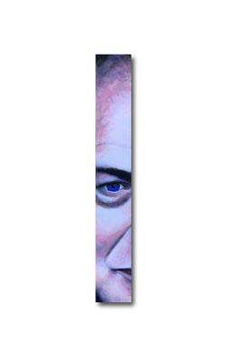 "Brian Eno:   3.5 x 24 x 1""  acrylic on wood"